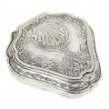 Casetă de bijuterii din argint 950, elegant elaborată în stil Empire | cca. 1920 | atelier Gombert & Bibollet | Franța