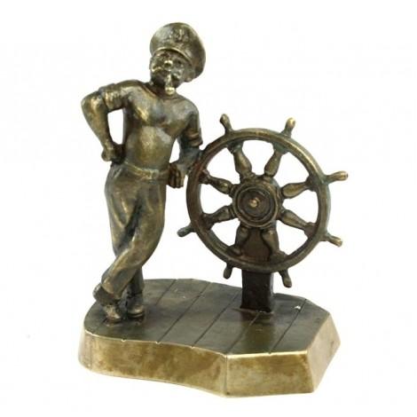 Statuetă din bronz ilustrând un căpitan de marină | atelier Nimor | URSS | cca.1980