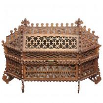 Impresionantă casetă victoriană pentru bijuterii   lemn traforat   cca. 1900   Marea Britanie