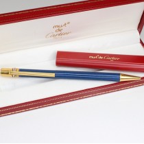 pix Must de Cartier, Trinity Collection. lapis lazuli. etui cu rezerve Cartier