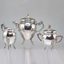 """elegant set """"tet-a-tet"""" pentru servirea ceaiului/ cafelei.atelier milanez.cca 1940"""