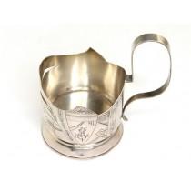 Suport pentru pahar de ceai - Podstakannik- Art Nouveau, argint. Rusia Imperială cca 1913