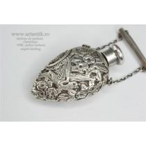 RAR: sticluta de parfum. chatelaine 1908. atelier britanic. argint sterling