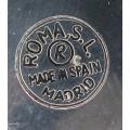 serviciu de cupe pentru sampanie - alama argintata - Spania