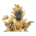 "Impozantă veioză "" Rattanakosin Buddha "". bronz & marmură. cca 1940. Thailanda"