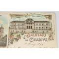 carte poștală 1899 - Salutări din Craiova - circulată internațional