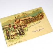 carte poștală - anul 1900 - Bușteni - Suvenir din România - necirculată