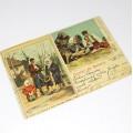 carte poștală - anul 1902 -Salutări din România - circulată internațional