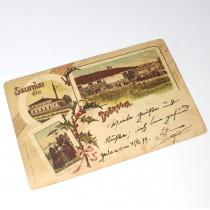 carte postala 1899 Salutari din Dobrogea - Medgidia circulata international 1899