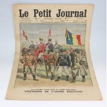cromolitografie 1913 - Uniformes de l'armee roumaine - Le Petit Journal