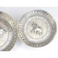 set de boluri persane, din argint. manufactura de perioada Qajar cca 1900
