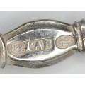 serviciu de lingurite demitasse - argint - Danemarca - Simon Groth 1876