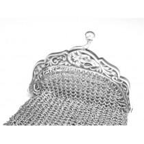 portofel victorian chatelaine. argint. Franta cca 1880