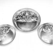 serviciu de boluri din argint, pentru delicatese si fructe uscate. Turcia cca.1920