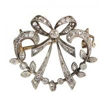 delicata brosa Art Nouveau - aur si diamante naturale - cca 1890