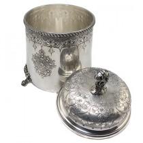eleganta biscotiera din argint - atelier italian - cca 1900