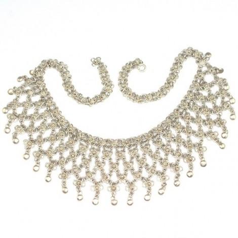 "elegant colier yemenit "" Libbeh "" - argint filigranat - Yemen"