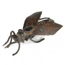 okimono japonez din bronz - Cicada - Meiji - cca 1900