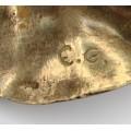 brosa modernista de autor - bronz si argint- Danemarca cca 1950