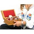 Casetă de bijuterii \ artă populară românească   anii '80