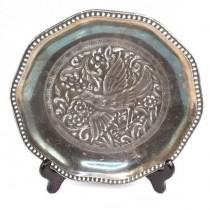 Platou decorativ Rosenthal - portelan argintat - cca 1920