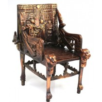 "element decorativ "" Tronul lui Tutankamon "" - bronz cuprat - Egipt"