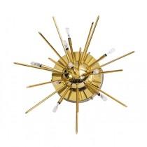 aplica-plafoniera Sputnik - designer Emil Stejnar - otel placat cu aur- anii '60