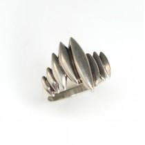 "inel modernist "" Aurora "" - Theresia Hvorslev - argint - anii '70"