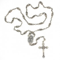 colier religios - rozariu din argint - Imaculata Conceptie