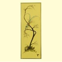 inedit tablou japonez - pictura pe bachelita - anii '30