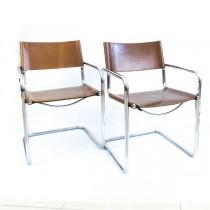pereche de scaune cantilever Bauhaus - S 34 - Mart Stam anii '60