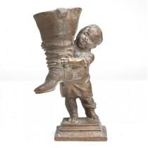 inedita calimara vieneza - bronz - secol XIX