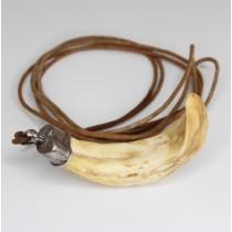 vechi colier cu impozanta amuleta indoneziana - colt de porc Babirusa