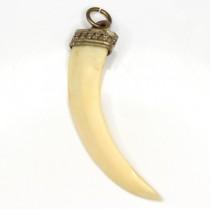 veche amuleta bengaleza - colt de porc andamanez - British Raj