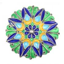 veche brosa etnica Kabyle - argint emailat - Algeria