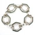 Brățară statement modernistă Mid-Century |  manufactură în argint & email | atelier Arezzo | Italia | anii '60