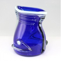 vaza Mid-Century Art Glass - atelier romanesc - cca 1970