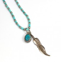 colier amerindian - argint si turcoaze naturale - Statele Unite