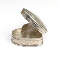 Cutiuta din argint | Inimioara | gravura manuala | Italia
