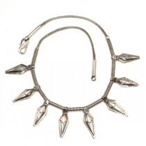 Vechi colier tribal Banjara - manufactură în argint - India