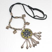 Vechi colier hindus cu amuleta Mandala - Banjara - Rajasthan