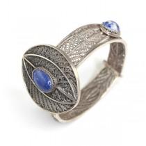 Veche bratara egipteana - argint filigranat si lapis lazuli - cca 1930