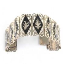 Impresionanta bratara thailandeza - manufactura in argint - Siam anii '40