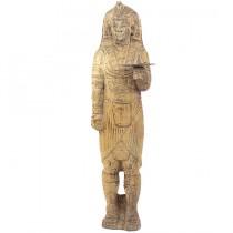 Impozanta statuie egipteana | Faraon | sculptura in lemn - prima jumatate a sec. XX