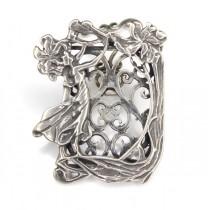 Rama foto miniaturala - stil Art Nouveau - argint - Italia