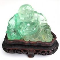 Veche statueta Buddha-Hotei - sculptura in fluorina - China cca 1930