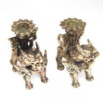 Pereche de sfesnice Feng Shui - Pixiu Qilin - China cca 1900