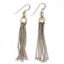 Cercei etnici indieni - Boho Chic - manufactura in argint