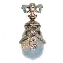 Spectaculos pandant Fabergé - argint emailat & piatra lunii - colectia Heritage