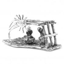 """Miniatură din argint  """" Nașterea lui Iisus Hristos """""""